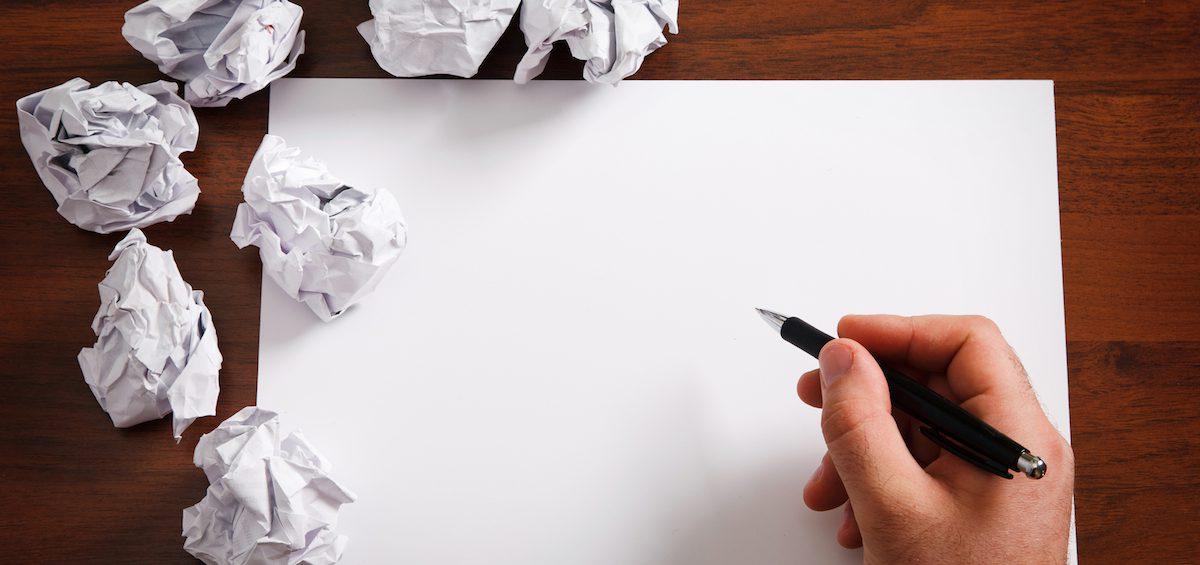 bloqueios para escrever