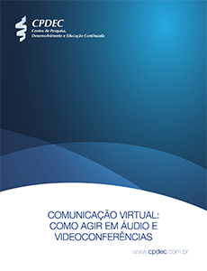"""Capa do whitepaper """"Como agir em áudio e videoconferências"""""""