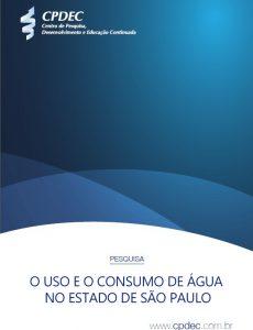 """Capa do whitepaper """"O uso e o consumo de água no estado de São Paulo"""""""